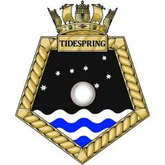 RFA Tidespring Ships Crest