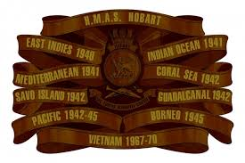 HMAS Hobart Battle Honours Board