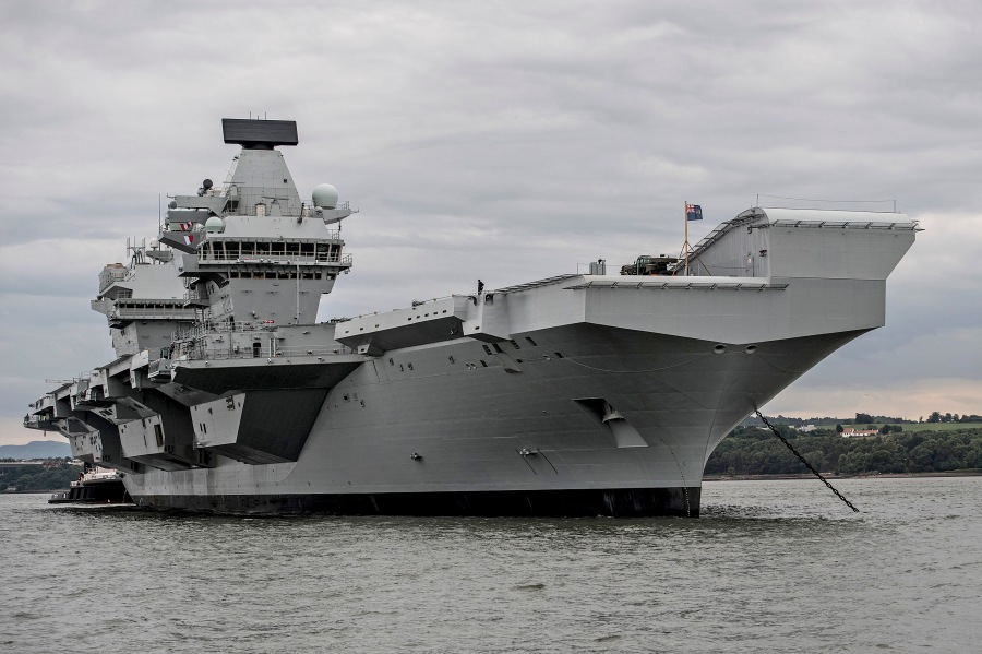 HMS Queen Elizabeth conducts vital system tests off the coast of Scotland