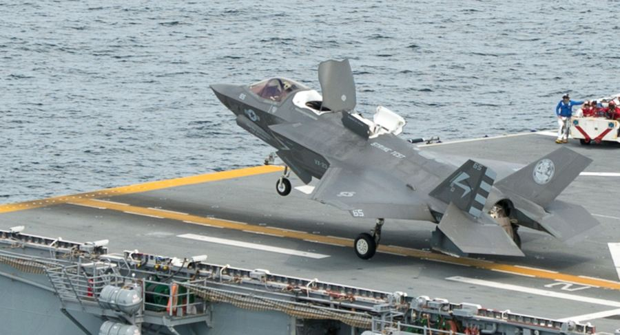 F-35B STO 15 Aug 2013 USS Wasp DT-II