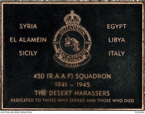 450 Sqn Plaque