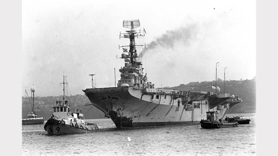 HMAS Melbourne following Voyager collision