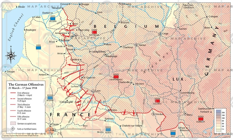German Spring Offensive Map Use this One